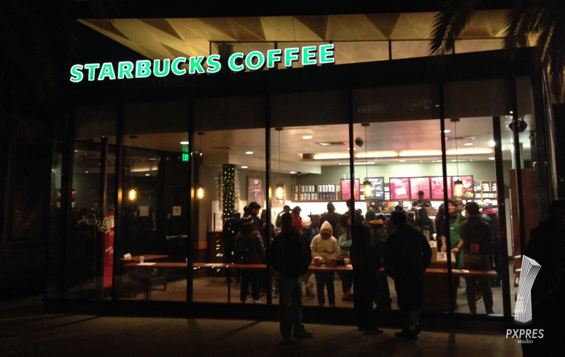 Starbucks at grand park in Los Angeles