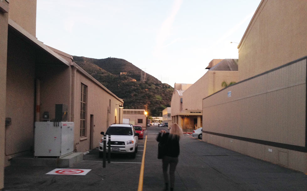 アメリカハリウッドの映画スタジオの中