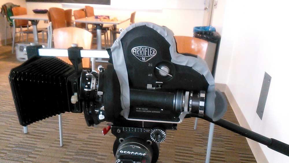 Arri社製アリフレックスのフィルムカメラ