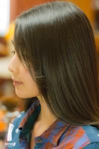 Miki Nomura hair styling model